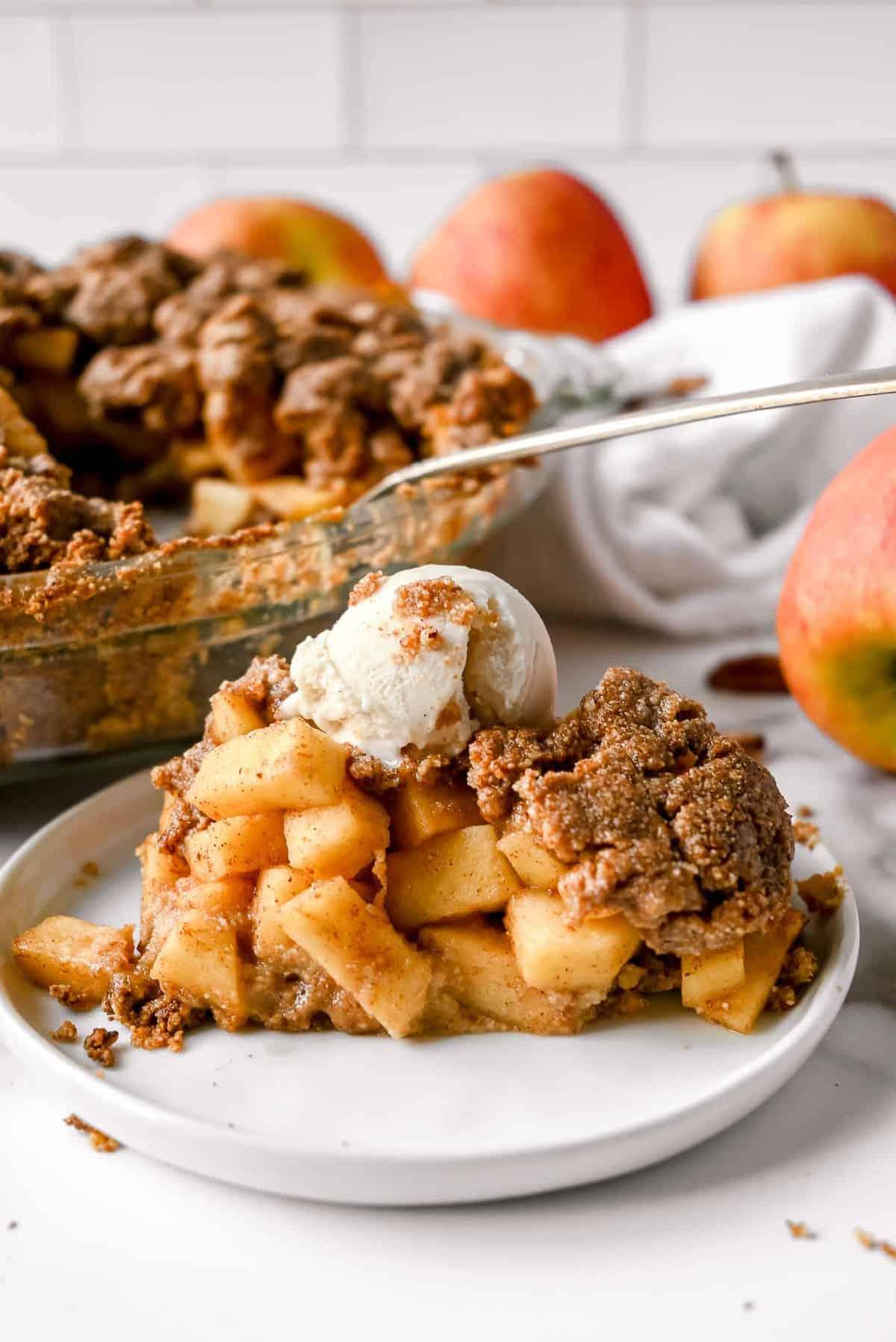 slice of healthy apple pie