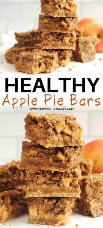 healthy apple pie bars that are gluten free, dairy free and paleo! Topped with crumble and made with vegan salted caramel, these dutch apple pie bars will be a family favorite!