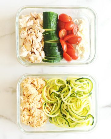 Low Carb Rotisserie Chicken Recipes make mealtime easy! Great for meal prep and leftovers, these low carb meal prep bowls make a healthy lunch or dinner!