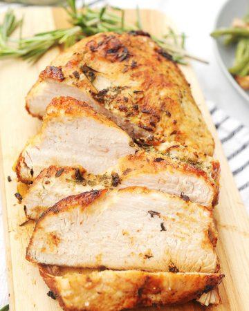 air fryer turkey breast recipe for boneless turkey roast in the air fryer, power fryer, or ninja foodi