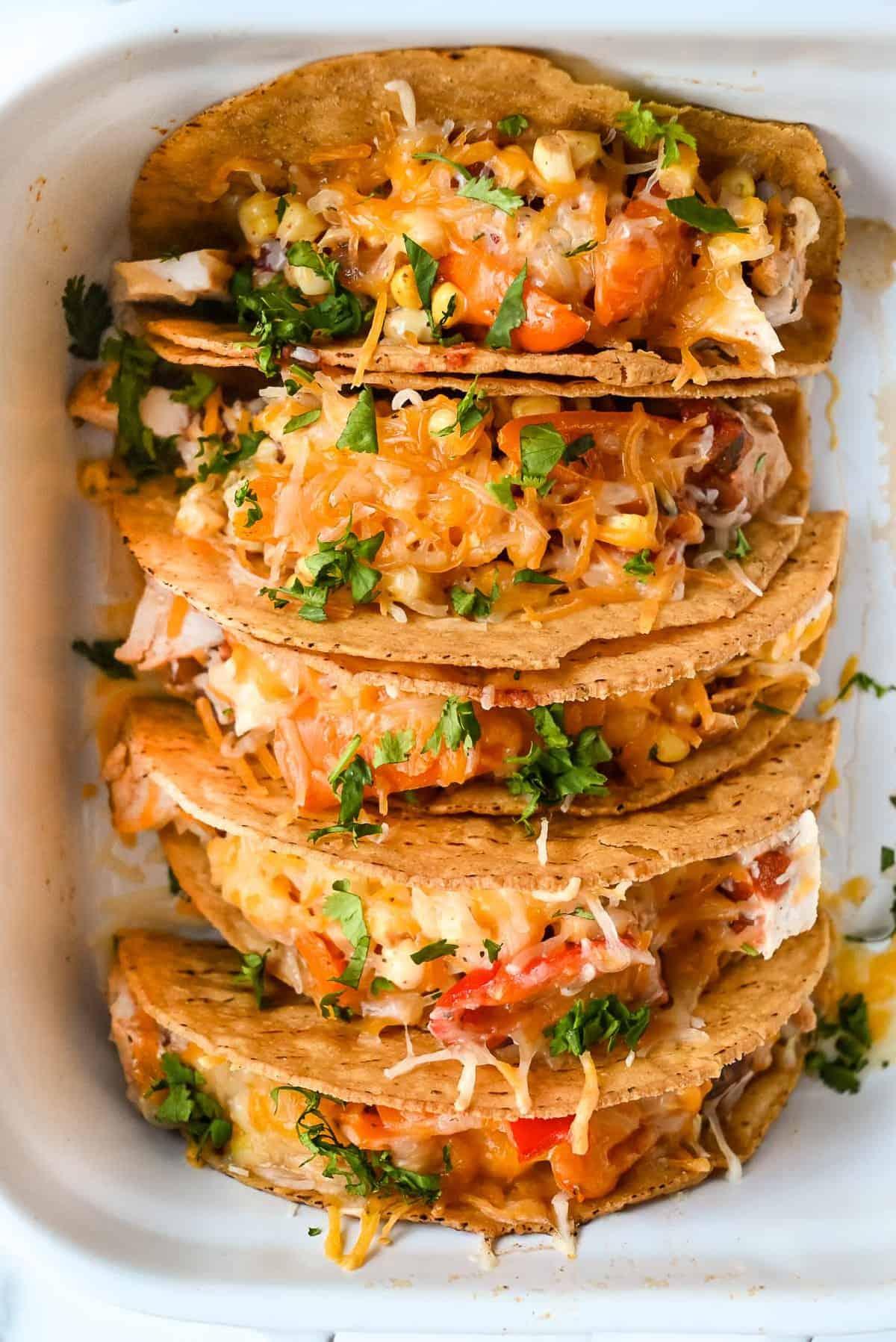 santa fe chicken tacos