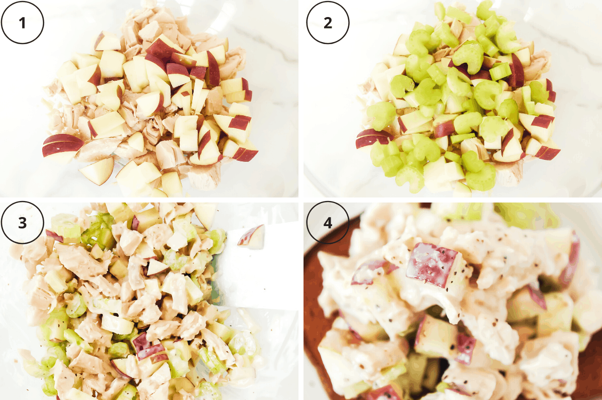 steps for making healthy chicken salad