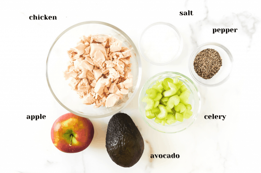 ingredients for whole30 chicken salad