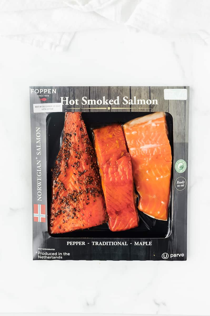 seafood from norway salmon in packaging