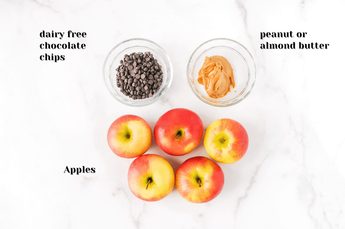 ingredients to make healthy apple nachos