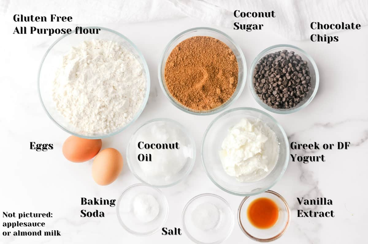 ingredients to make healthy muffins for kids