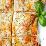 slices of homemade flatbread pizza