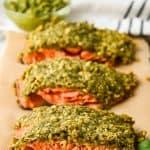 pesto crusted salmon